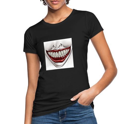 Smile Maske - Frauen Bio-T-Shirt