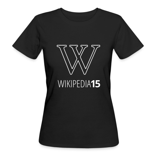 W, rak, svart - Ekologisk T-shirt dam
