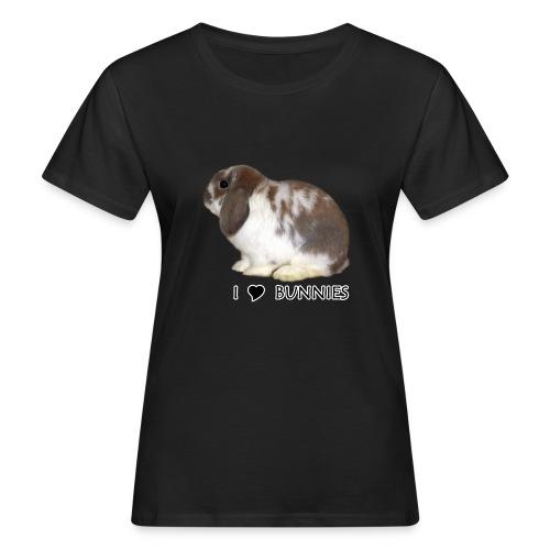 I Love Bunnies Luppis - Naisten luonnonmukainen t-paita