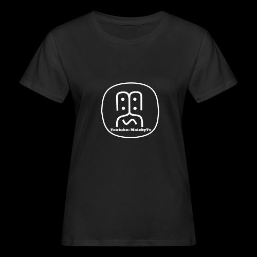 MaickyTv Logo Weiß - Frauen Bio-T-Shirt