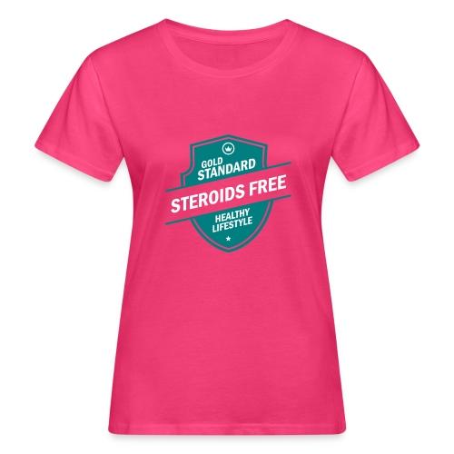 GoldStd-SteroidsFree-33 - Women's Organic T-Shirt