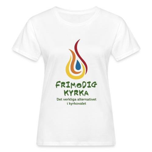 logga med text - Ekologisk T-shirt dam