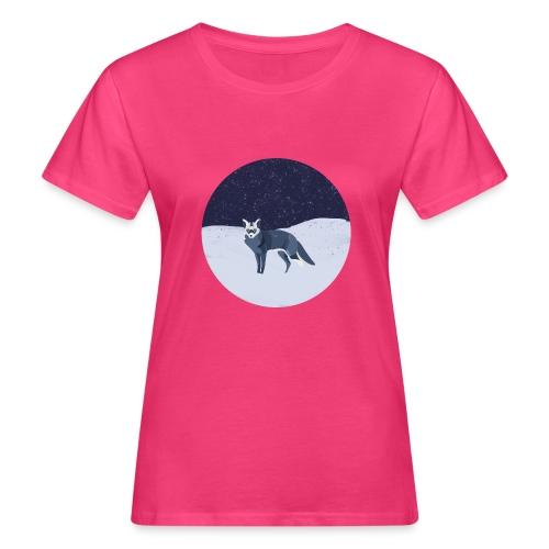 Blue fox - Naisten luonnonmukainen t-paita