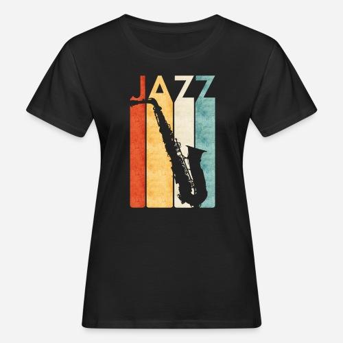 Jazz Saxophon Retro - Frauen Bio-T-Shirt