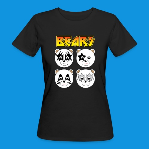 Kiss Bears square.png - Women's Organic T-Shirt
