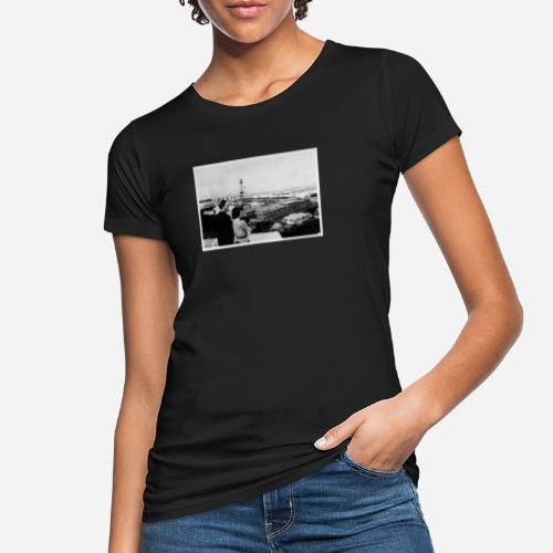 Foto | Vintage | Mann und Frau mit Aussicht - Frauen Bio-T-Shirt
