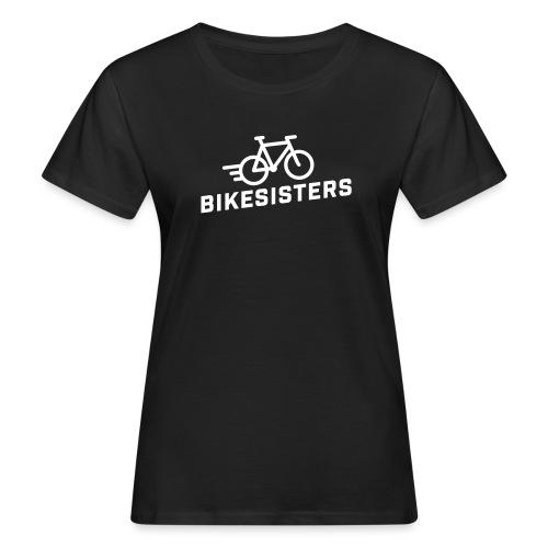 BIKESISTERS Logo white - Frauen Bio-T-Shirt