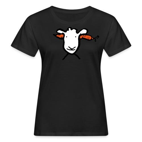 Krasses Möhren Schaf - Frauen Bio-T-Shirt
