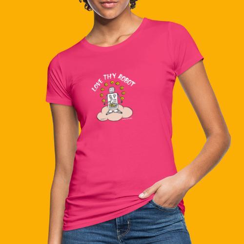 Dat Robot: Love Thy Robot Buddha Dark - Vrouwen Bio-T-shirt