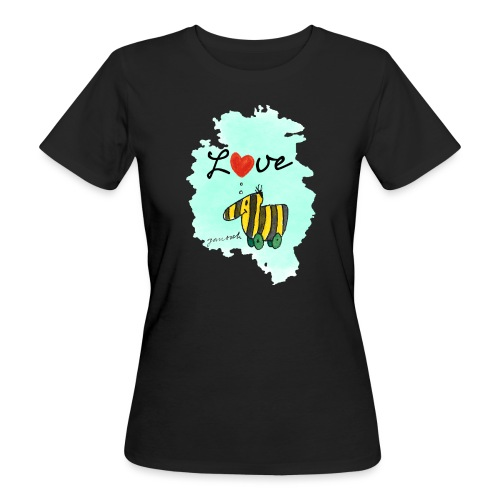 Janosch Tigerente Love Türkis SP - Frauen Bio-T-Shirt