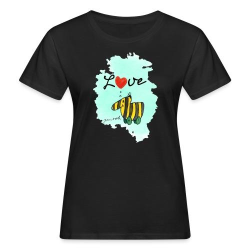 Janosch Tigerente Love Türkis SP - Frauen Bio-T-Shirt