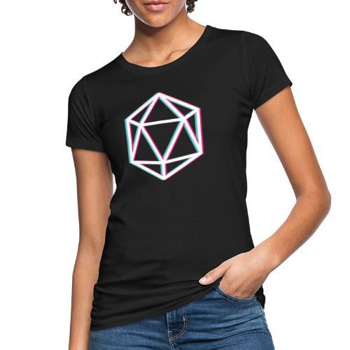 3D D20 weiß - Women's Organic T-Shirt