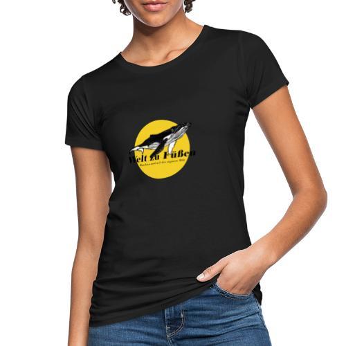 Welt zu Füßen Logo - Frauen Bio-T-Shirt