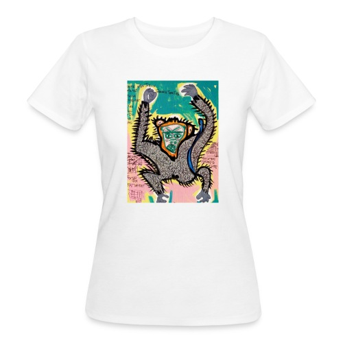 the monkey - T-shirt ecologica da donna