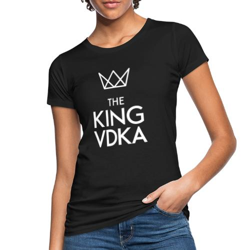 The King VDKA Logo weiss - Frauen Bio-T-Shirt