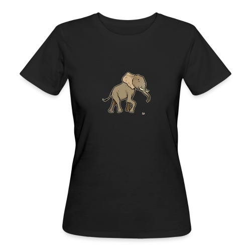 African Elephant (black edition) - Frauen Bio-T-Shirt
