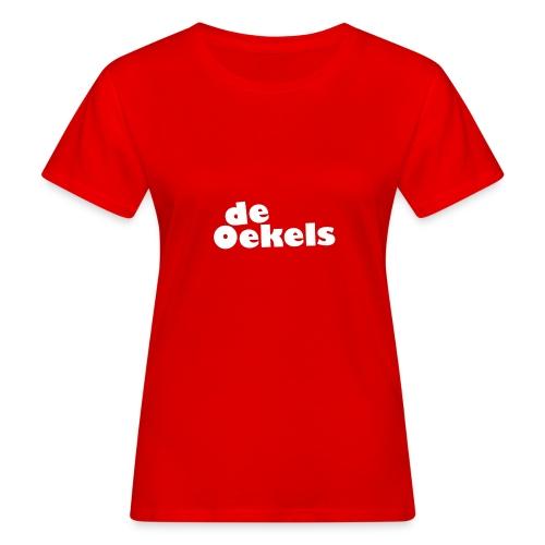 DeOekels t-shirt Logo wit - Vrouwen Bio-T-shirt