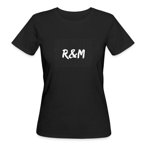 R&M Large Logo tshirt black - Women's Organic T-Shirt