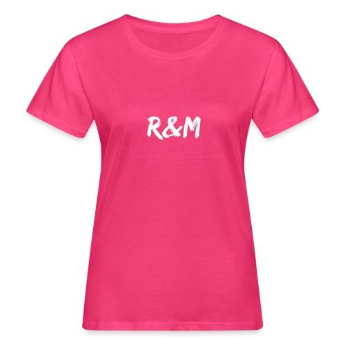 R&M Large Logo tshirt black - Women's Organic T-Shirt