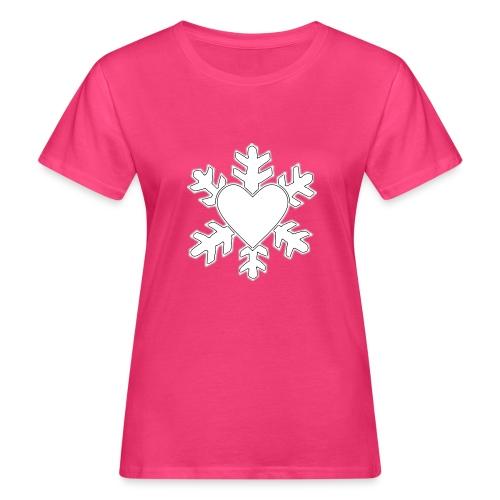 Flocon coeur 3D - T-shirt bio Femme