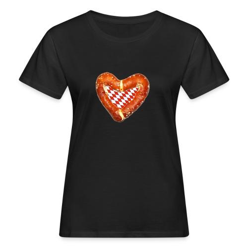 Brezenherz rot - Frauen Bio-T-Shirt