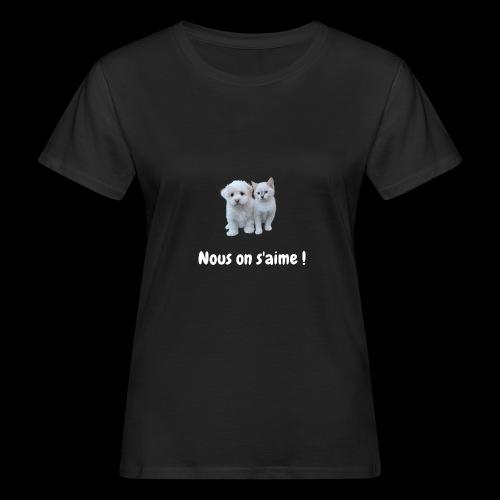 chien et chat - T-shirt bio Femme
