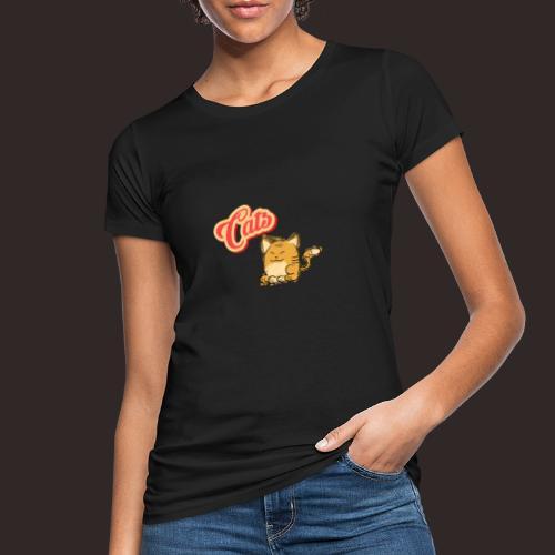 Katze | Katzen süß Schriftzug - Frauen Bio-T-Shirt