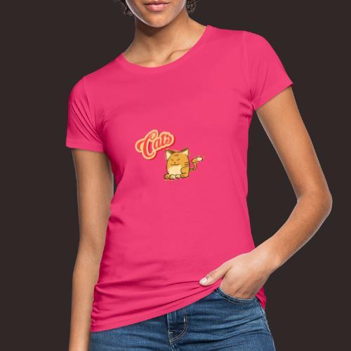 Katze   Katzen süß Schriftzug - Frauen Bio-T-Shirt