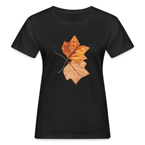 Blätter - Frauen Bio-T-Shirt