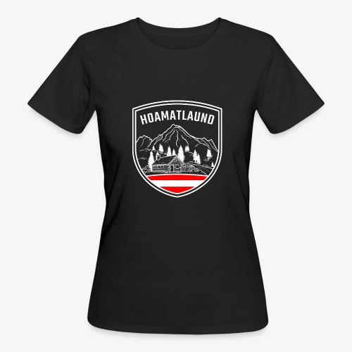 Hoamatlaund logo - Frauen Bio-T-Shirt