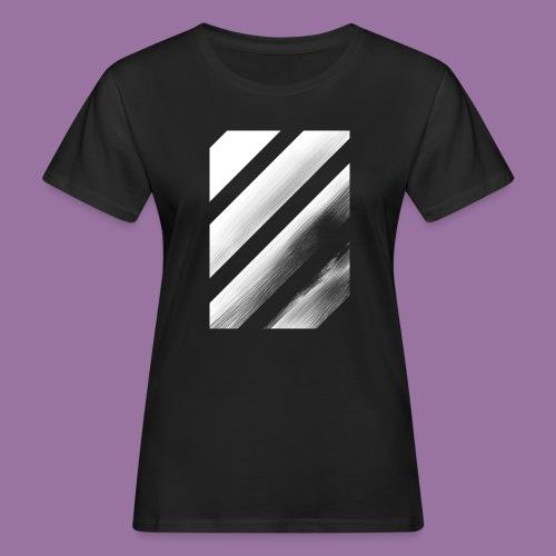 Stripes Diagonal White - T-shirt ecologica da donna