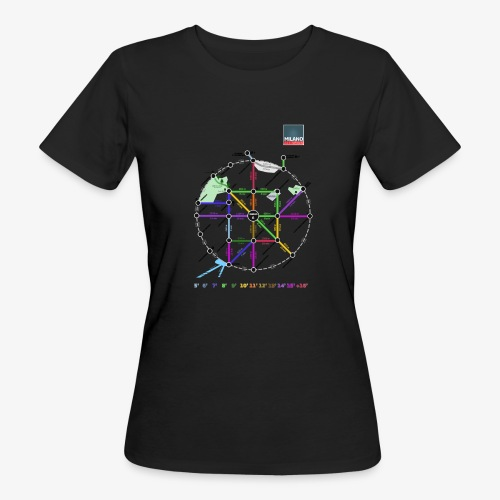MetroMinuto Milano - T-shirt ecologica da donna
