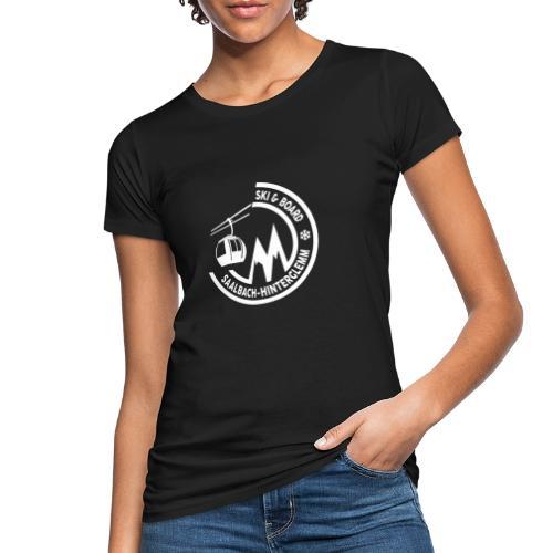 Ski & Board embleem Saalbach Hinterglemm - Vrouwen Bio-T-shirt