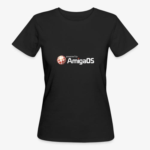 PoweredByAmigaOS white - Women's Organic T-Shirt