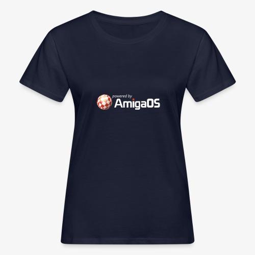 PoweredByAmigaOS white - Women's Organic T-Shirt
