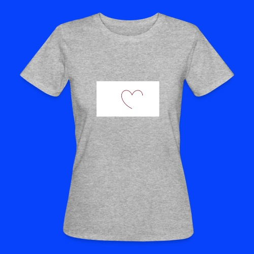 t-shirt bianca con cuore - T-shirt ecologica da donna