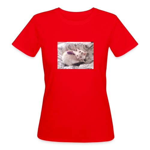 CAT SURROUNDED BY MICE AND BUTTERFLIES. - Women's Organic T-Shirt
