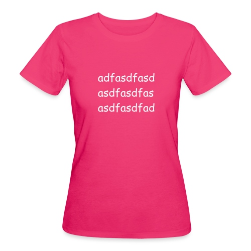 Cami asdf - Camiseta ecológica mujer