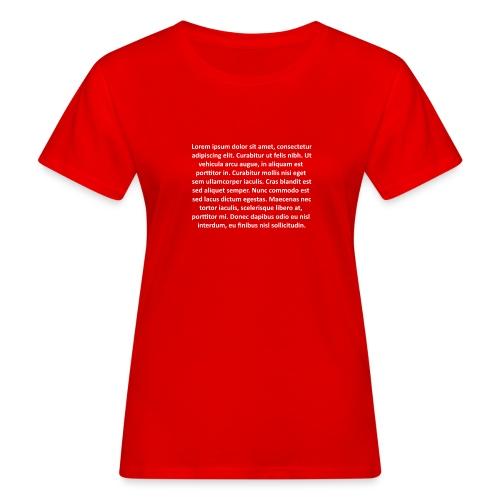 Lorem ipsum - Camiseta ecológica mujer