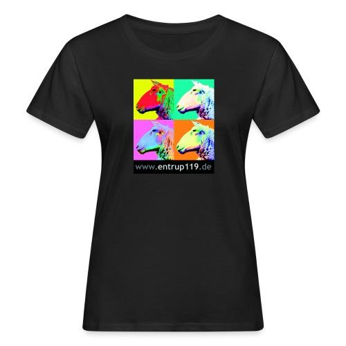 Bunte Entrup Schafe - Frauen Bio-T-Shirt