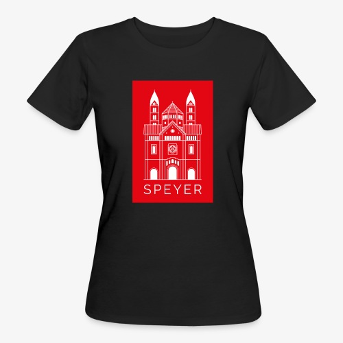 Speyer - Dom - Red - Modern Font - Frauen Bio-T-Shirt