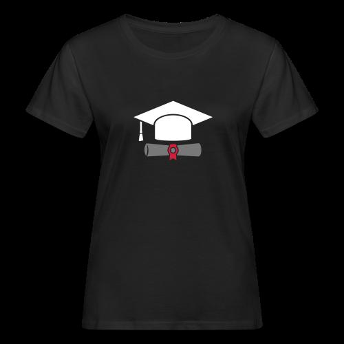 Doktorhut mit Zeugnis - Geschenk zum Abschluss - Frauen Bio-T-Shirt