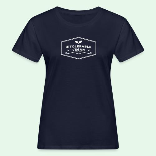 Intolerable Vegan Logo - White - Ekologisk T-shirt dam