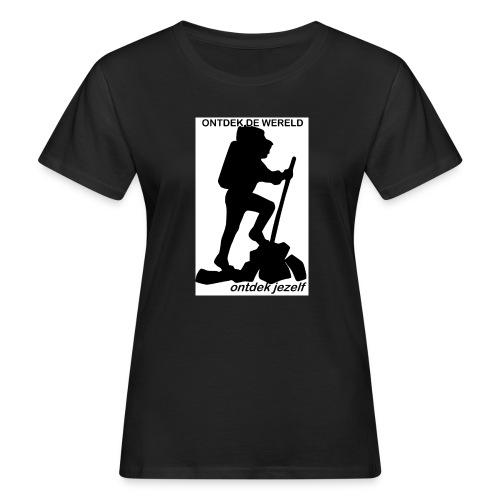 Ontdek de wereld, Backpacker - Vrouwen Bio-T-shirt