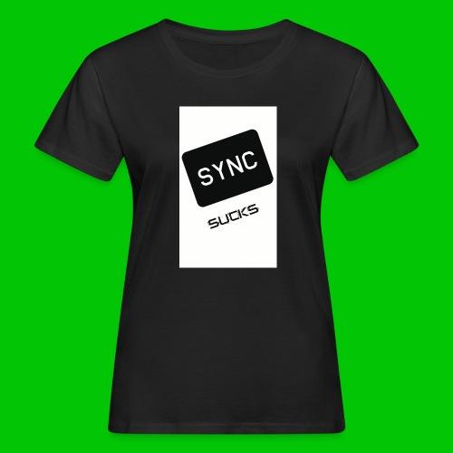 t-shirt-DIETRO_SYNK_SUCKS-jpg - T-shirt ecologica da donna