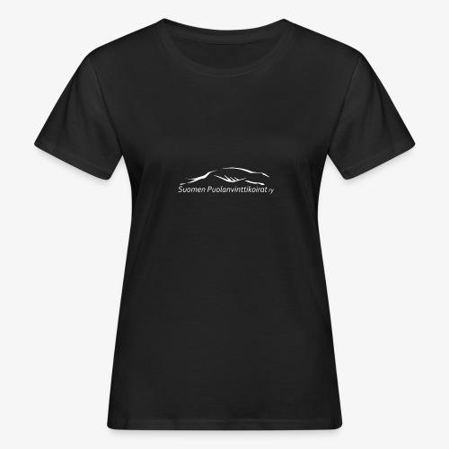 SUP logo valkea - Naisten luonnonmukainen t-paita