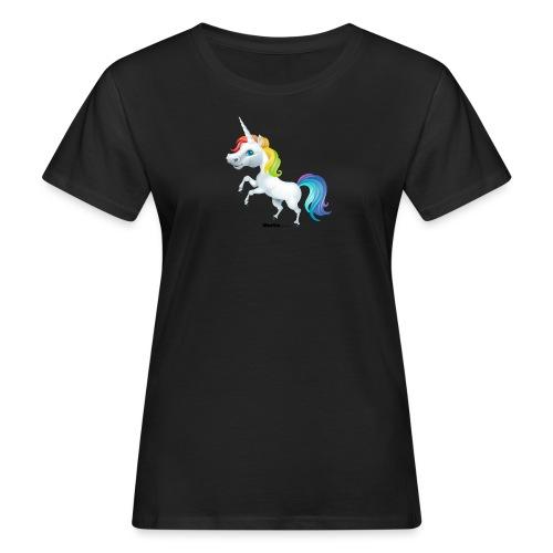 Rainbow yksisarvinen - Naisten luonnonmukainen t-paita