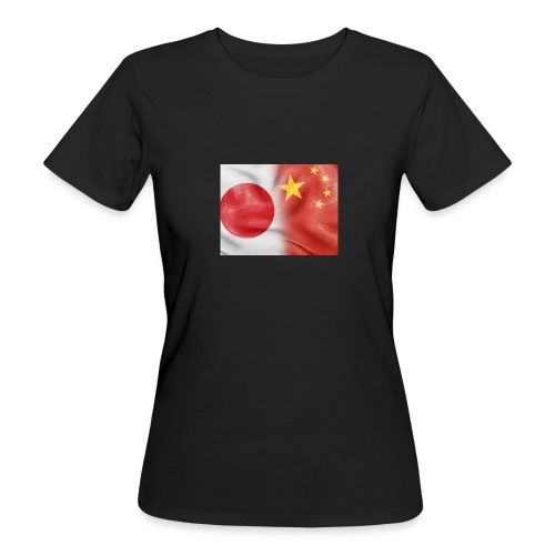 japan china flag - T-shirt ecologica da donna