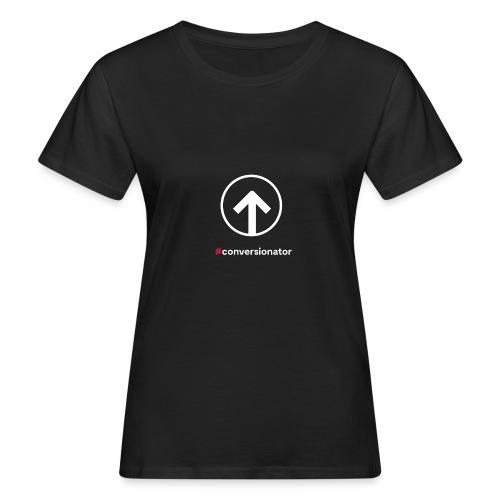 Conversionator mit Pfeil (weiß) - Frauen Bio-T-Shirt