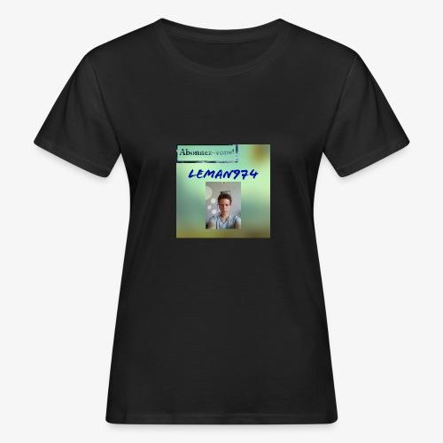 Leman974 logo - T-shirt bio Femme